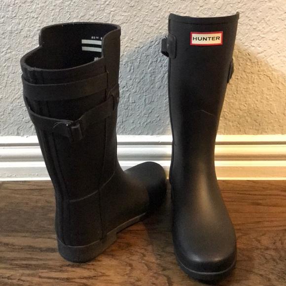 3bcedc42fbd6 Hunter Shoes - Hunter Original Short Black Strap Rain Boots